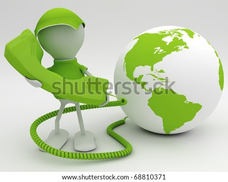 Voice over internet protocol concept. 3d rendered illustration. - stock photo