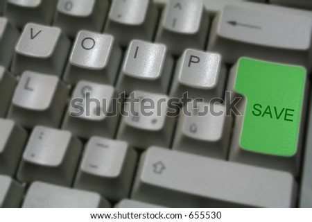 voip keyboard 3 - stock photo