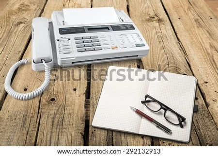 Voip, Telephone, Answering Machine. - stock photo