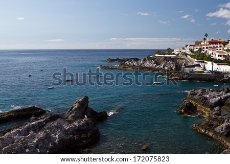 Volcanic beach in Tenerife. Nature ocean  - stock photo