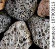 Volcanic stones - stock photo