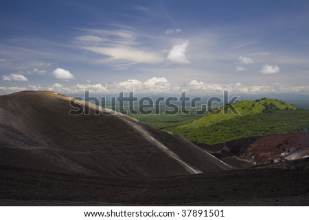 Volcano Cerro Negro - stock photo