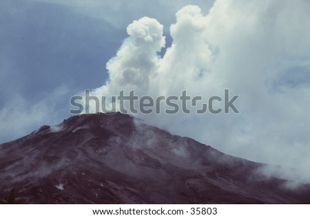 Volcano Eruption - stock photo