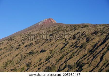 Volcano Rinjani, summit path - stock photo