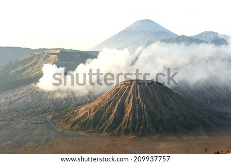 Volcanoes of Bromo National Park, Java, Indonesia - stock photo