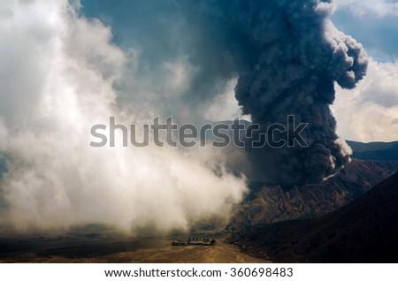 Volcanoes of Bromo National Park, Java, Indonesia . - stock photo