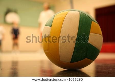 volleyball 003 ball. - stock photo