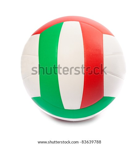 Volleyball ball isolated on white. Close up. - stock photo