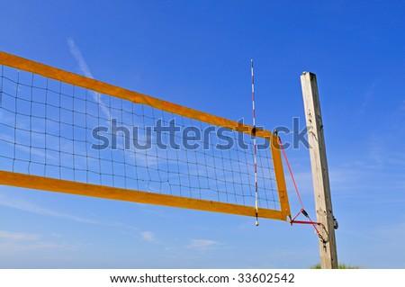 volleyball net - stock photo