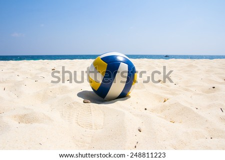Volleyball on the beach  - stock photo