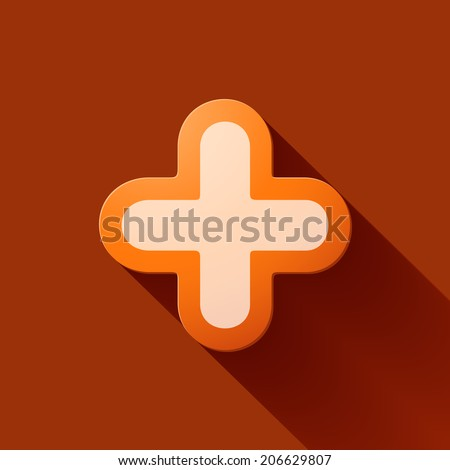 Volume icons symbol: Plus sign . Colorful modern Style. - stock photo