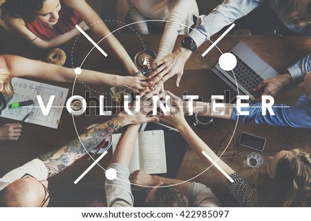 Volunteer Aid Assistant Charity Giving Help Concept - stock photo