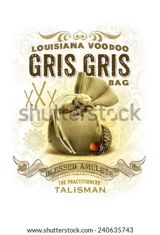 Voodoo New Orleans Background Collection - stock photo