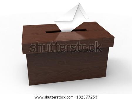 vote box - stock photo
