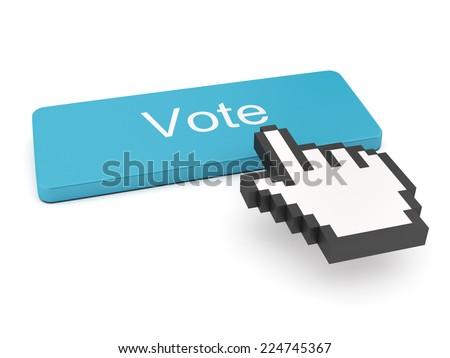 Vote Button on Keyboard  - stock photo
