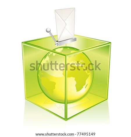 Vote for the Earth - stock photo