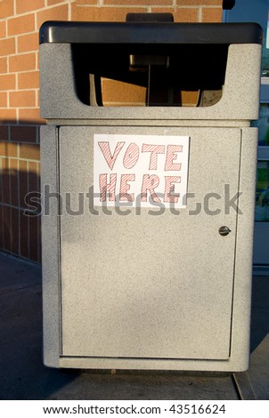 Vote Here - stock photo