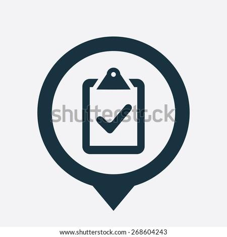 vote icon map pin on white background  - stock photo