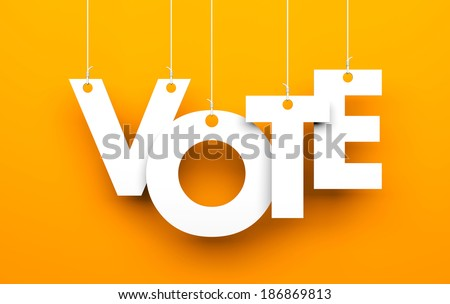 Vote metaphor - stock photo