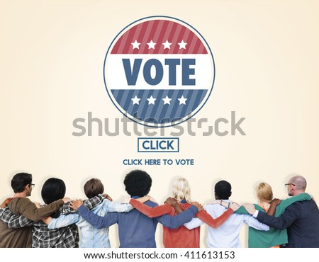 Vote Voter Voting Campaign Choice Election Poll Concept - stock photo