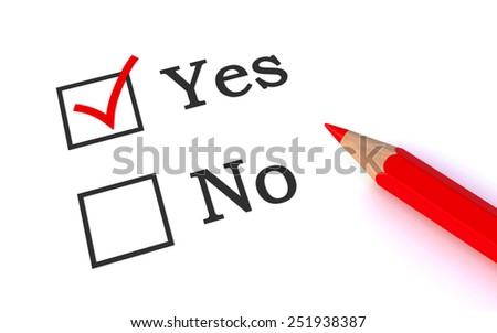 vote yes - stock photo