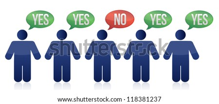 voting people illustration design over white background - stock photo