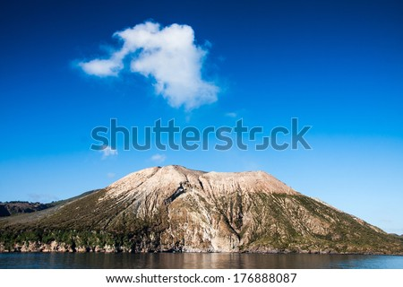 Vulcano Island, Lipari, Italy - stock photo