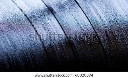 vynil LP close up - stock photo