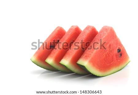 Waater melon slices - stock photo