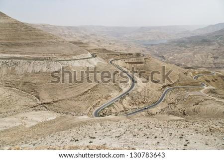 Wadi Al Mujib ,Jordan - stock photo