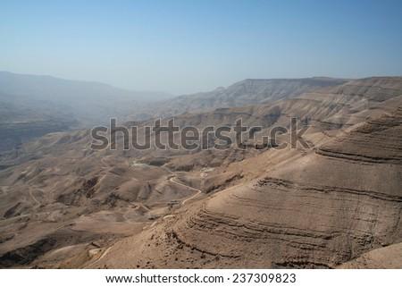 Wadi Mujib in Jordan. - stock photo