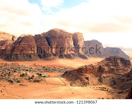 Wadi rum desert. - stock photo