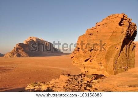 Wadi Rum desert, Jordan - stock photo