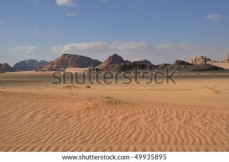 Wadi Rum desert landscape - stock photo