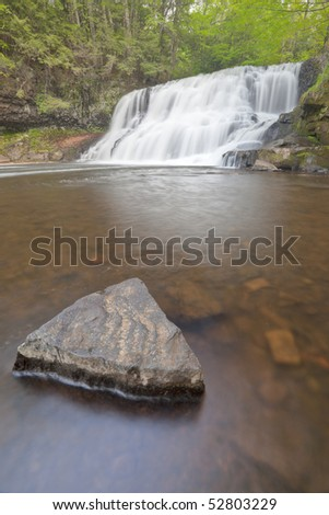Wadsworth Falls during Springtime HDRI Image Vertical - stock photo