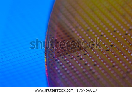 Wafer - stock photo