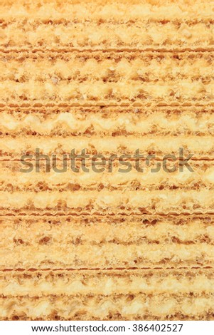 wafer milk dessert abstract background - stock photo