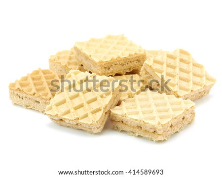 Wafers on a white background - stock photo