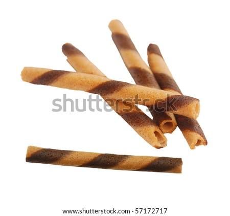 Waffle cookies - stock photo