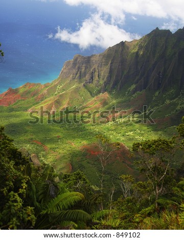 Waimea Canyon, Kauai,Hawaii - stock photo