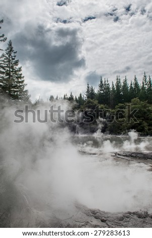 Waiotapu Thermal Wonderland - stock photo