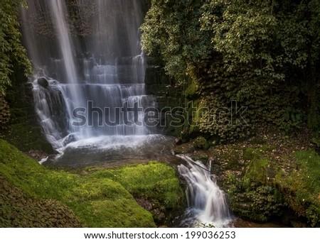 Waitanguru falls, Waikato, New Zealand - stock photo