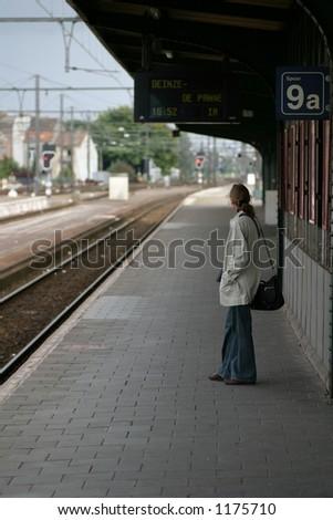 waiting - stock photo