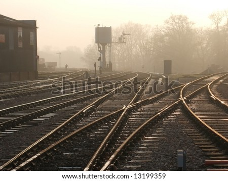 Waiting For The Early Train. - stock photo
