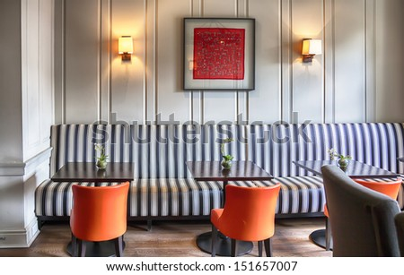 waiting hall in hotel  - stock photo