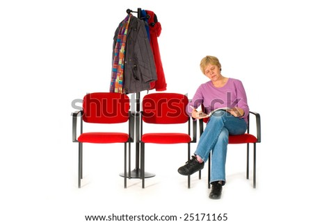 waiting room by doctor or hospital - stock photo