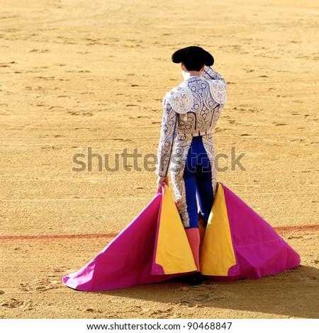 waiting torero - stock photo