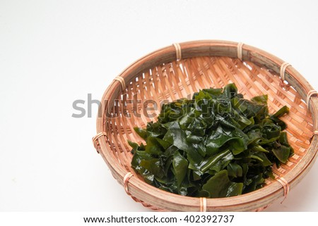 wakame sea weed - stock photo