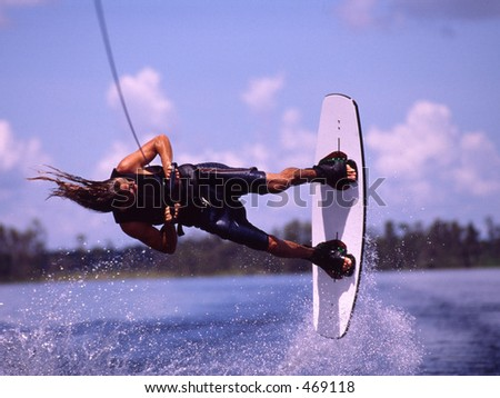 Wakeboarding - stock photo