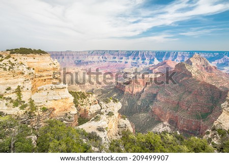 Walhalla Overlook, North Rim, Grand Canyon National Park, AZ - stock photo